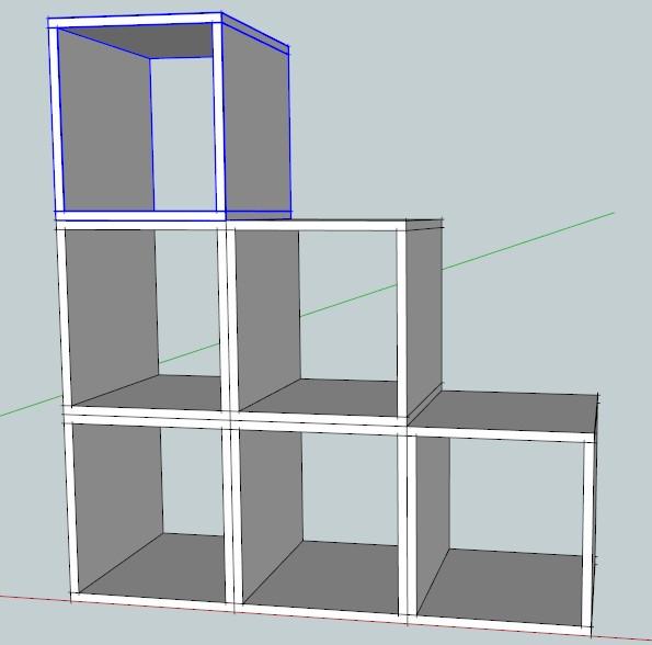 Libreria legno fai da te modulare mobili fai da te - Letto cubo ikea ...