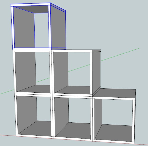 Libreria legno fai da te modulare mobili fai da te for Libreria cubi ikea