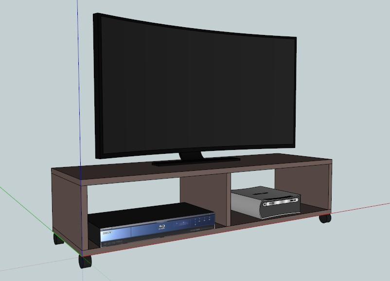 mobile tv fai da te legno mobili fai da te